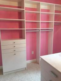 A Closet Enterprise Inc-installation Aug 2016 3-Pretty in Pink-Our customer chose a great way to show off the white system